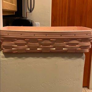 Longaberger pink bread basket